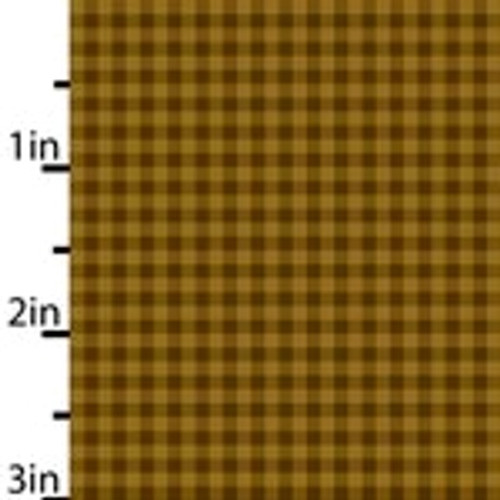 TAN, GOLD AND LIGHT BROWN CHECKED FABRIC