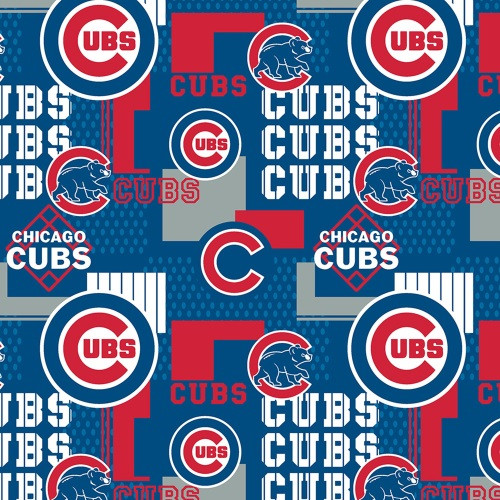 CHICAGO CUBS COLLAGE LICENSED FABRIC