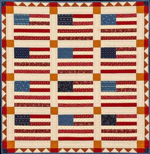 INDEPENDENCE DAY AND RUNNER QUILT PATTERN - #1024