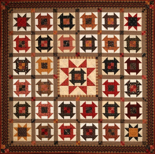 CHESTNUT HONEY AND RUNNER QUILT PATTERN - #1027