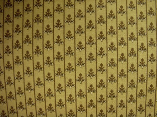GOLDEN BROWN AND TAN FLORAL PATTERN WITH STRIPES ON LIGHT BROWN FABRIC - C235-90-BROWN