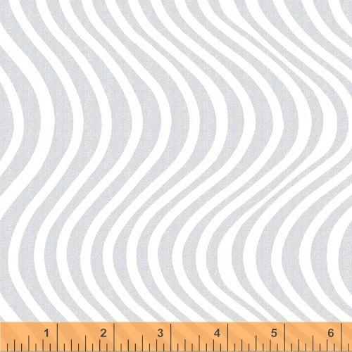 WAVY GRAY STRIPES ON WHITE FABRIC - 42727-4