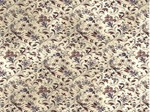 PURPLE AND RED FLORAL ON BEIGE FABRIC - 8245-004