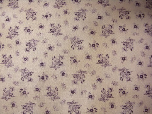 PURPLE FLOWERS ON BEIGE FABRIC - 8248-004