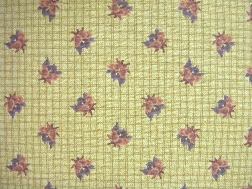 RED, BROWN AND GREEN ON BROWN CROSSHATCH PLAID FABRIC - 8244-004