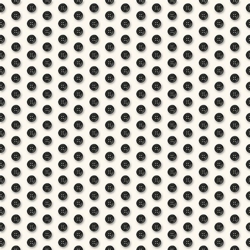 BLACK BUTTONS ON WHITE FABRIC - 1649-24164-EJ