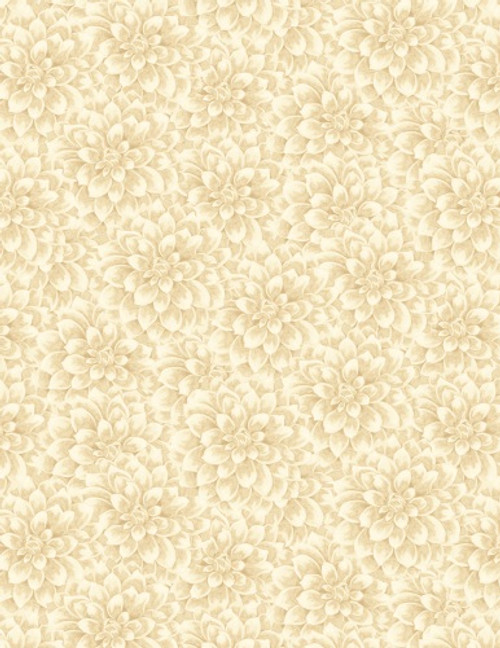 PEONIES ALLOVER ON TAN FABRIC - 3007-68434-221