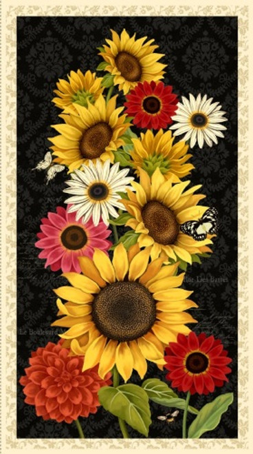 """MULTIPLE LARGE SUNSET BLOOMS 23 1/2"""" PANEL - 3007-68429-953"""