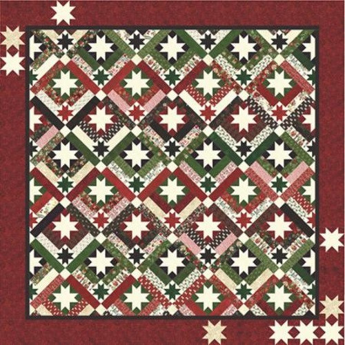 "STAR FALL PATTERN - Finished Size: 82"" x 82"" - PAT006"