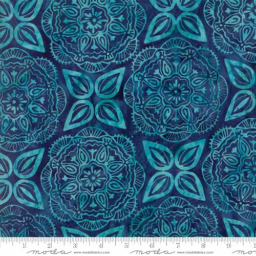 NAVY WITH LIGHT BLUE PRINT BATIK FABRIC - 27259-42