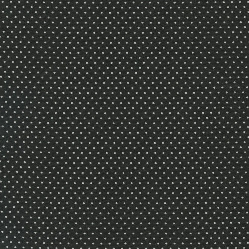 BLACK PIN DOTS FABRIC - 20707-K