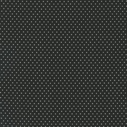 BLACK PIN DOTS FABRIC - 20707-K