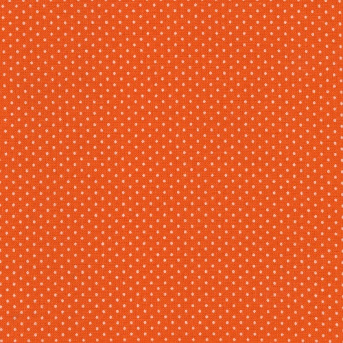ORANGE GREEN PIN DOTS FABRIC - 20707-ORG