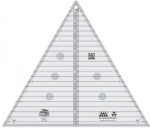 """60 DEGREE TRIANGLE RULER - 12"""" FINISHED - CGRT12560"""