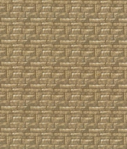 ASSORTED BROWN BUILDING BLOCKS FABRIC - BTR 6179 Sand