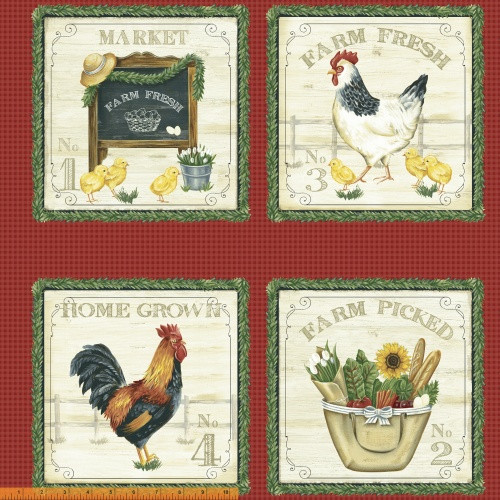 "8 SCENE FARM THEMED 24"" FABRIC PANEL - 50618P-X"