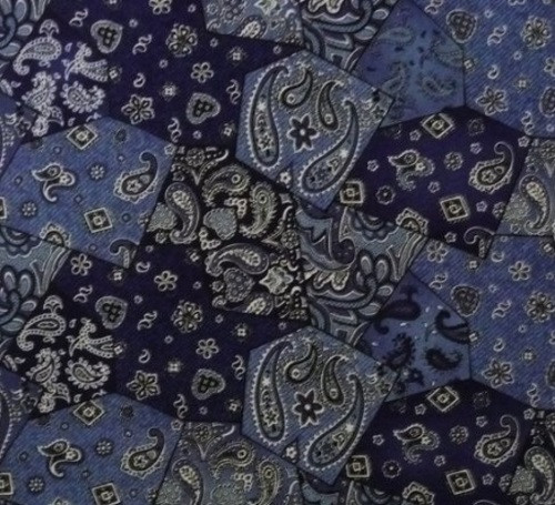 BLUE BANDANA FABRIC - 4861-44 Blue