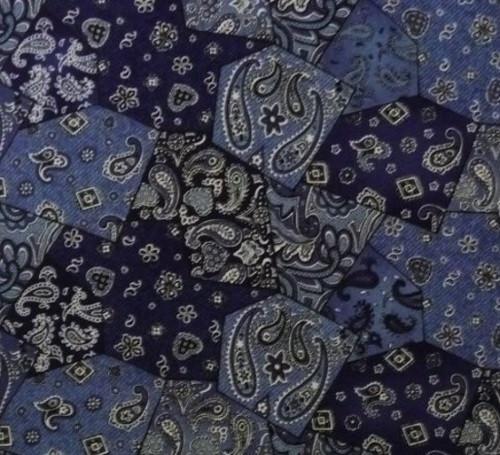 BLUE BANDANA FABRIC - 4861-44 Blue