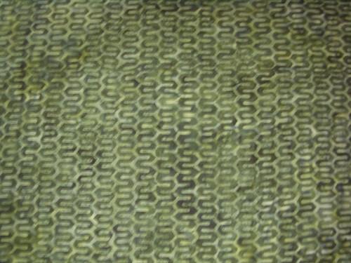 GREEN GEOMETRIC PATTERN ON DARK GREEN MARBLED HAND MADE BATIK FABRIC -R06-8068-0154