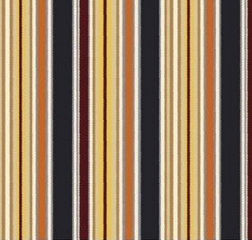 BLACK, TANS AND GOLD STRIPES FABRIC - C4882-Gold