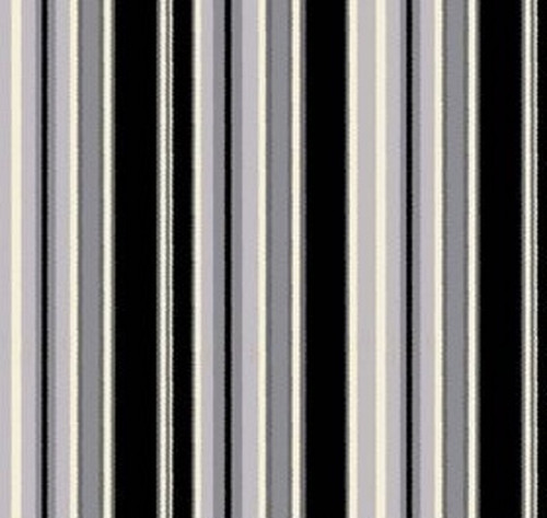 BLACK, ASSORTED GRAYS AND WHITE STRIPES FABRIC - C4882-Gray