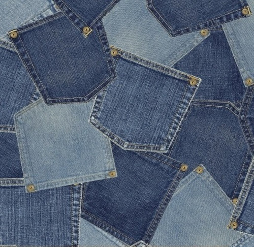 LIGHT AND DARK DENIM COLORED 'POCKETS' LOOK FABRIC - 40705-X -Limited Edition