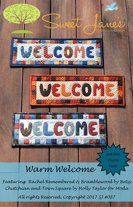 WARM WELCOME BANNER PATTERN - Front