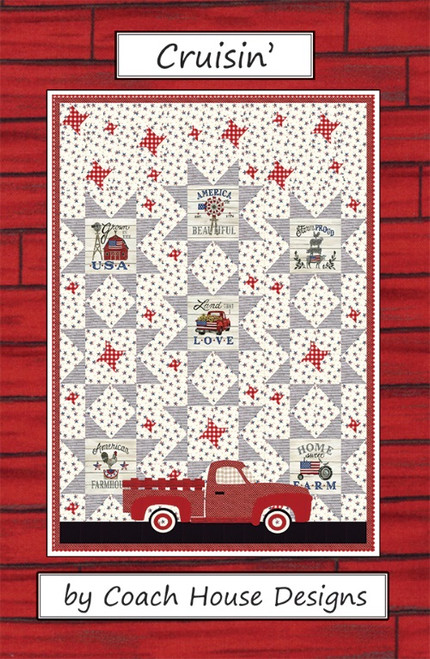 "CRUISIN' PATTERN - Finished Size: 62"" X 82"" - CHD-1819 - Front"