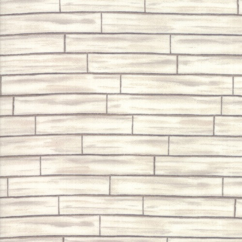 BARNWOOD WHITE AND GRAY BRICKS FABRIC - 19886-11