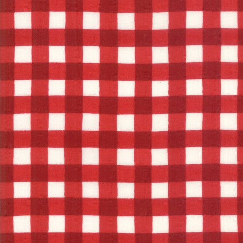 PATRIOTIC RED GINGHAM ON WHITE FABRIC - 19887-14