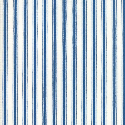 BRAVE BLUE AND WHITE STRIPED FABRIC - 19888-12