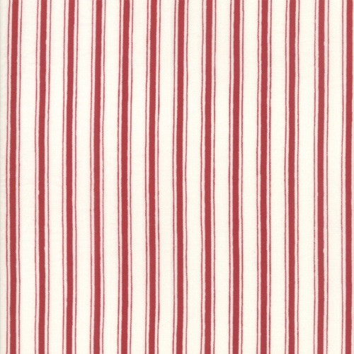 PATRIOTIC RED AND WHITE STRIPED FABRIC - 19888-13