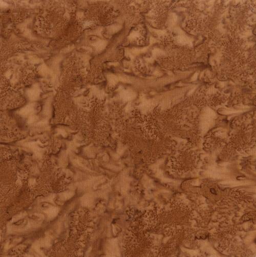 BROWN SUGAR BROWN MARBLED HAND MADE BATIK FABRIC - 100Q-1998