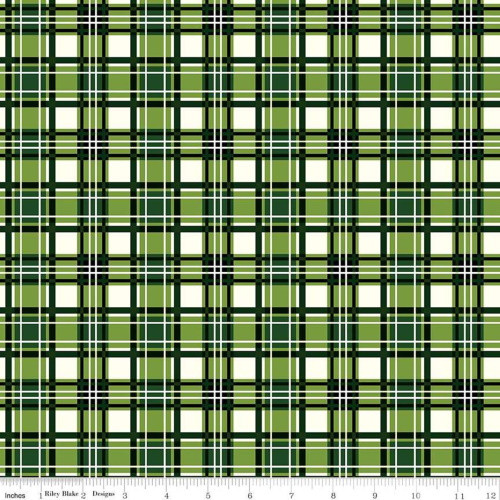GREEN PLAID FABRIC - C8698 Green