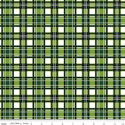 GREEN PLAID FABRIC - C8698 Green