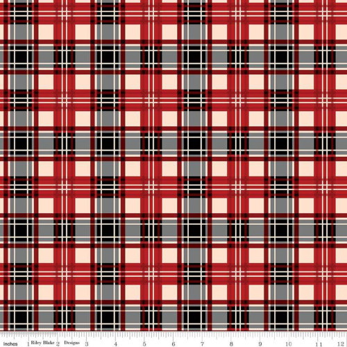 RED PLAID FABRIC - C8698 Red