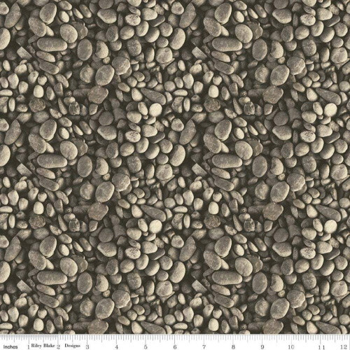 BROWN RIVER ROCK FABRIC - C8732-Brown