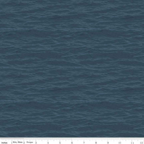 DARK TEAL WATER DESIGN FABRIC - C8731 Dark Teal
