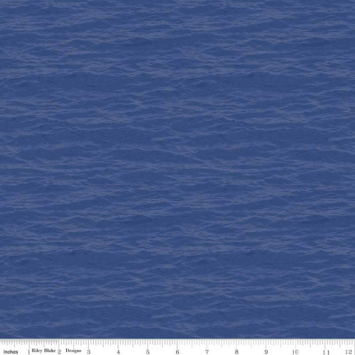 LAKE BLUE WATER DESIGN FABRIC - C8731 Lake Blue
