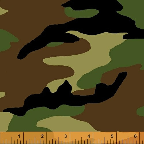"GREEN WOODLAND CAMOFLAGE 108"" WIDE BACKING - 51463-1"