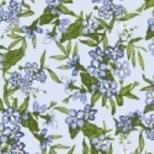 LITTLE BO PEEP BABY BLUE FLORAL CLUSTER FABRIC - 51441-1 Baby Blue