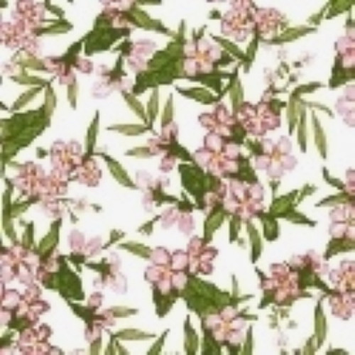 LITTLE BO PEEP RED & PINK FLORAL CLUSTER FABRIC - 51441-3 Blossom