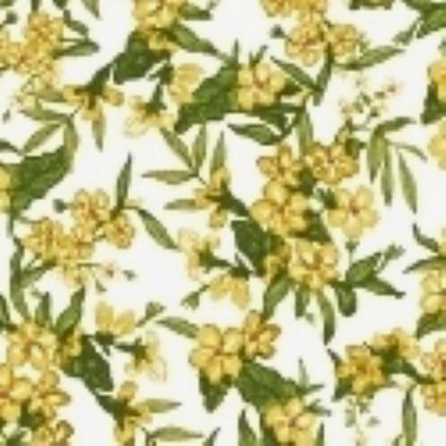 LITTLE BO PEEP BUTTERSCOTCH YELLOW FLORAL CLUSTER FABRIC - 51441-4 Butterscotch