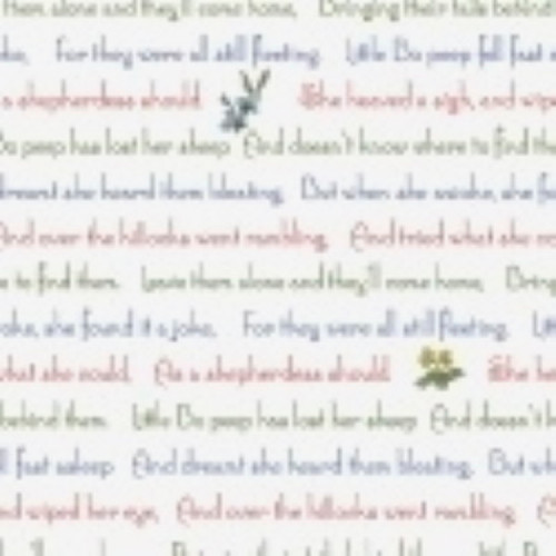 LITTLE BO PEEP MULTI COLOR NURSERY RHYME FABRIC - 51442-X Multi