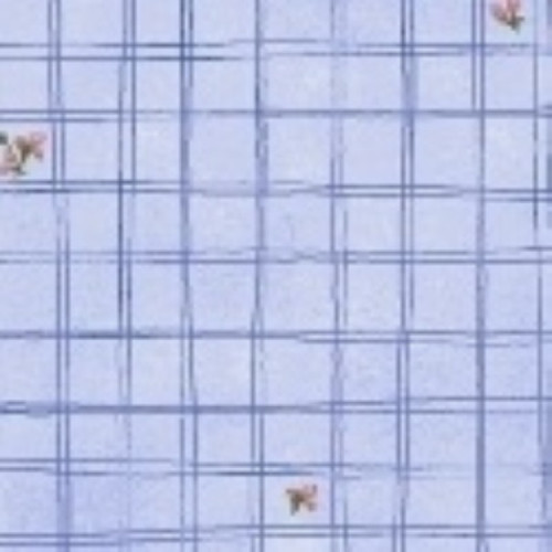 LITTLE BO PEEP BLUE ON BABY BLUE CROSSHATCH FABRIC - 51443-1 Baby Blue