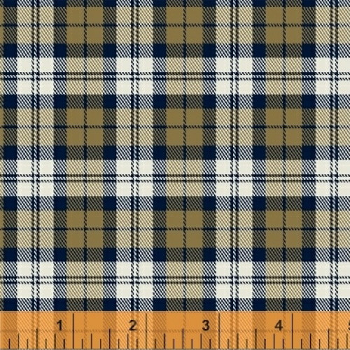 BROWNS AND BLUE PLAID FLANNEL FABRIC - 43032-2 - Mad for Plaid