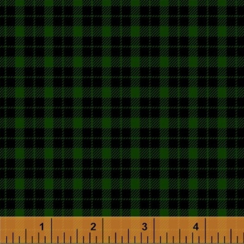 BLACK AND GREEN PLAID FLANNEL FABRIC - 43033-5 - Mad for Plaid
