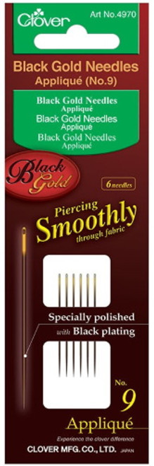 BLACK GOLD APPLIQUE/SHARPS NEEDLES Size 9 6ct - #4970