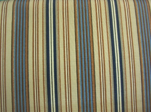 BROWNS AND BLUES STRIPE FABRIC - MAS1796-BA
