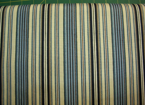 TANS AND BLUES STRIPE FABRIC - MAS1796-BE
